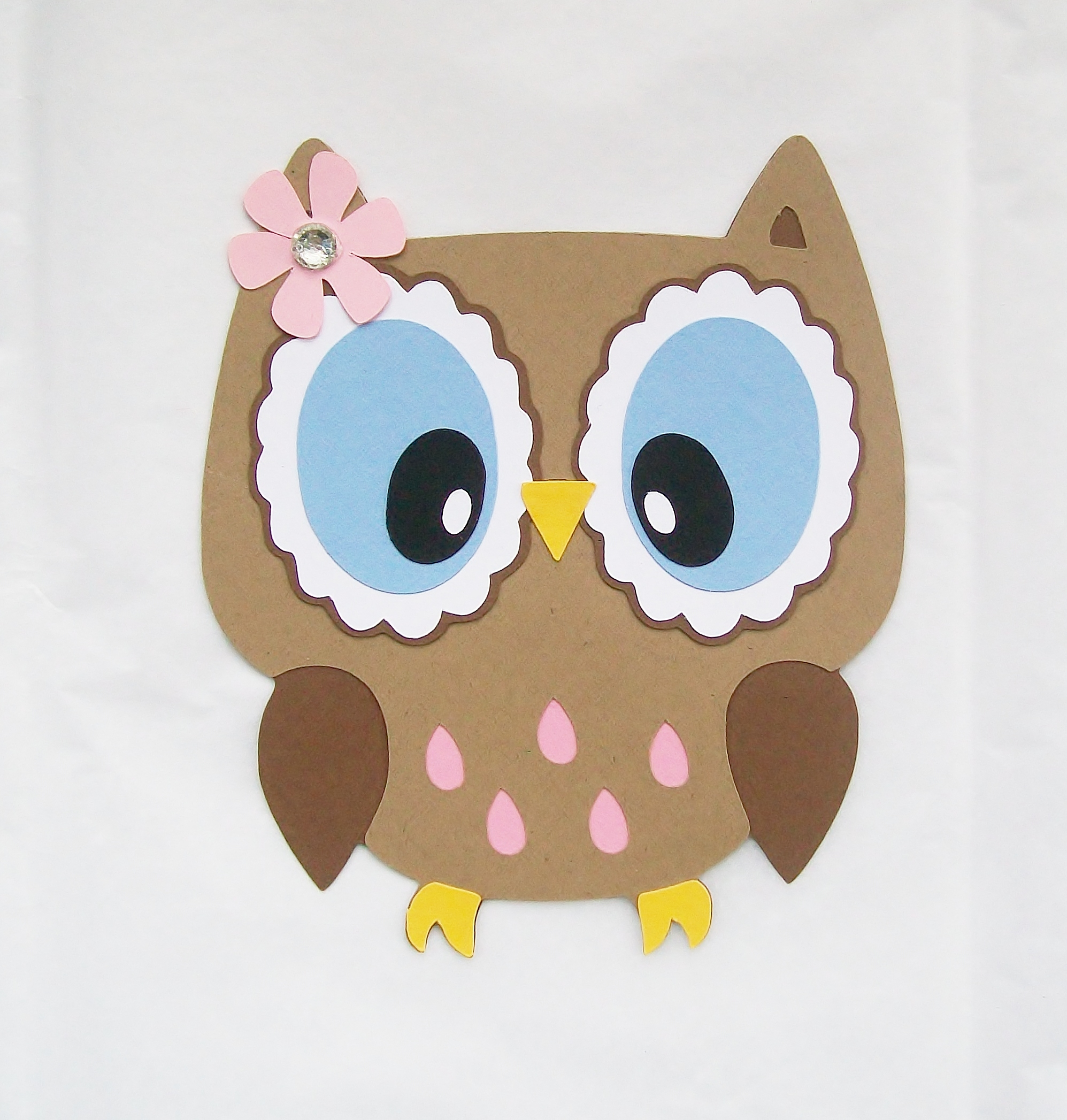 Owl Die Cut With Open Eyes Decor On Luulla